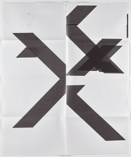 Wade GUYTON - Print-Multiple -  X Poster (Untitled)