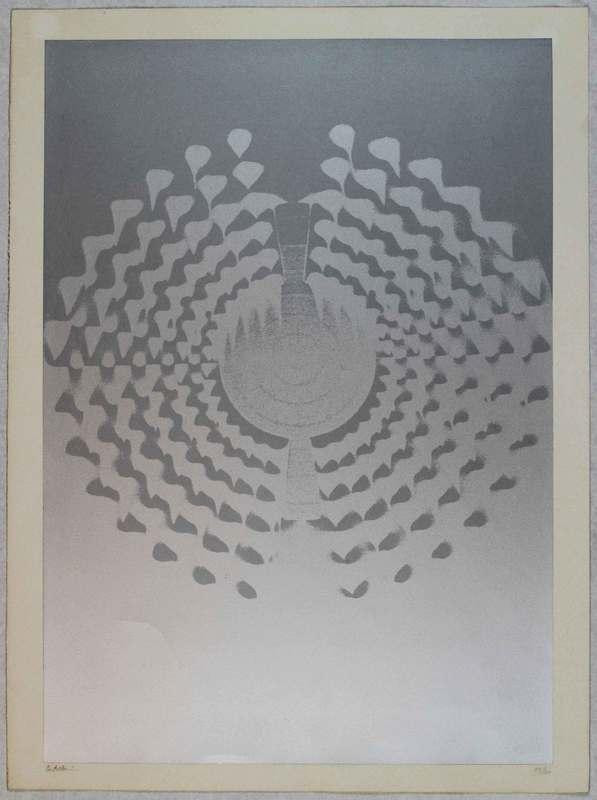 Enrico CASTELLANI - Grabado - Untitled
