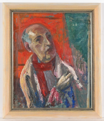 "Frederick SERGER - Painting - ""Self-portrait"", 1957, oil painting"