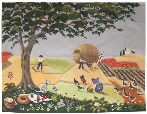 Madeleine DE LA GIRAUDIERE - Tapestry - l'été