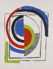 Sonia DELAUNAY-TERK - Estampe-Multiple - A travers le miroir