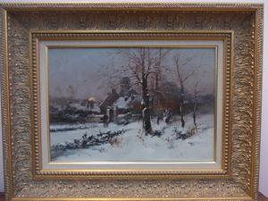 Eugène GALIEN-LALOUE (1854-1941) - Paysage enneigé.