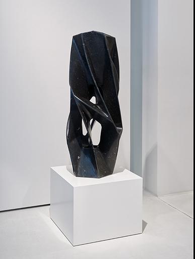 Arik LEVY - Skulptur Volumen - CraterTwist 120 Marble Black