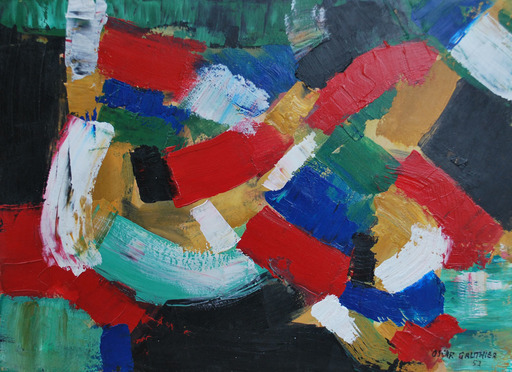 Oscar GAUTHIER - Gemälde - Composition, 1952