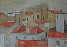 Joaquín PEINADO - Peinture - Tejados de paris