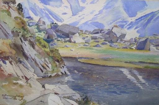 Christian BAUMGARTNER - Drawing-Watercolor - Gelmersee 4 Juli