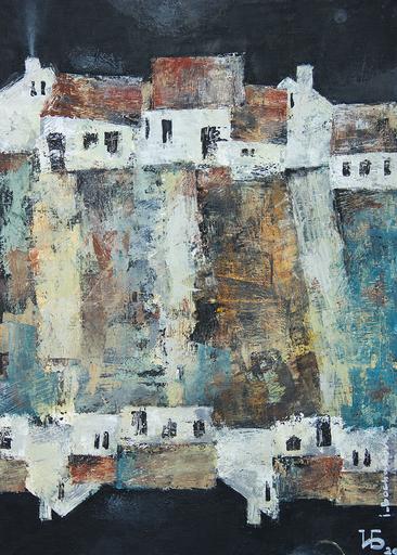 """Irina BOCHAROVA - Gemälde - abstract cityscape """"Old moon"""""""