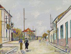 Maurice UTRILLO - Dibujo Acuarela - Arvert, Charente-Inférieure, La Poste