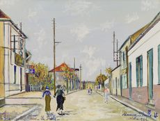 Maurice UTRILLO - Drawing-Watercolor - Arvert, Charente-Inférieure, La Poste