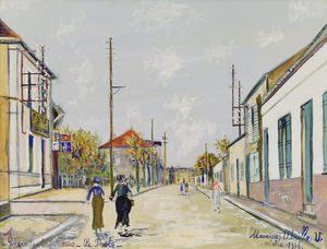 Maurice UTRILLO - Disegno Acquarello - Arvert, Charente-Inférieure, La Poste