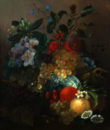 Jan VAN DER WAARDEN - Painting - Stillleben mit Schmetterlingen, still life butterfly