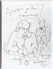 Jean COCTEAU - Dibujo Acuarela - Frederic ou Ibsen et le canard sauvage