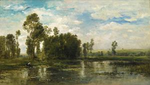Charles François DAUBIGNY, A Summer Day (Jour d'Été)