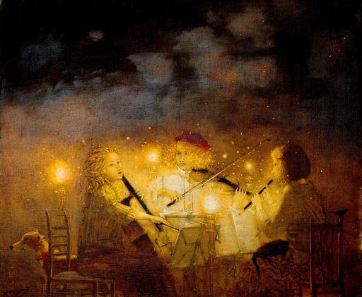 "Tatjana PALCUKA - Painting - ""Trio"" (series music)    (Cat N° 5471)"