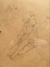 Joseph Bonaventure LAURENS - Dibujo Acuarela