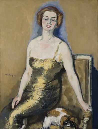 Kees VAN DONGEN - Peinture - Portrait de Madame Van Der Velde