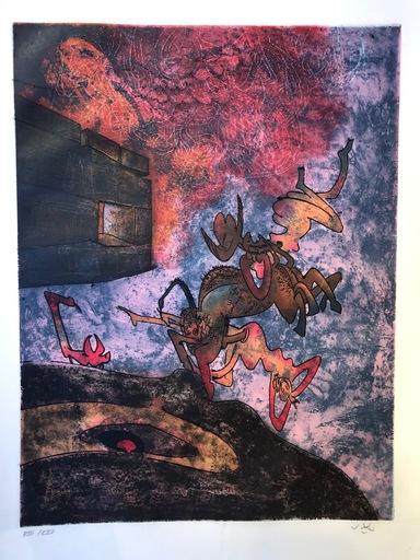 "Roberto MATTA - Print-Multiple - Hom'mere Chaosmos ""Ancien victorieux je te morphose"""