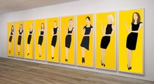 Alex KATZ - Estampe-Multiple - Black Dress Suite (9)