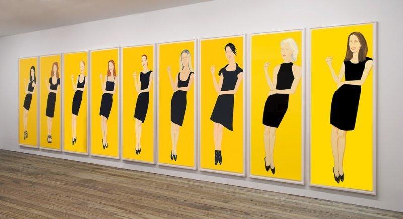 Alex KATZ - Estampe-Multiple - Black Dress Suite (9)