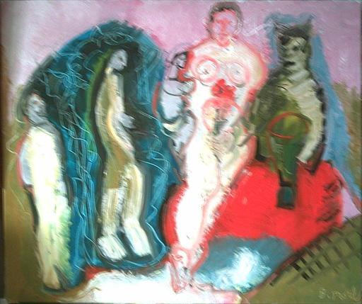Bernard MOREL - Painting - FAMILLE