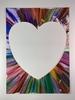 Damien HIRST - Zeichnung Aquarell - Heart spin / 2 parts