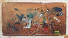 Mordecai ARDON - Pintura - Composition with Houses
