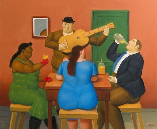 Fernando BOTERO - Painting - People Drinkning