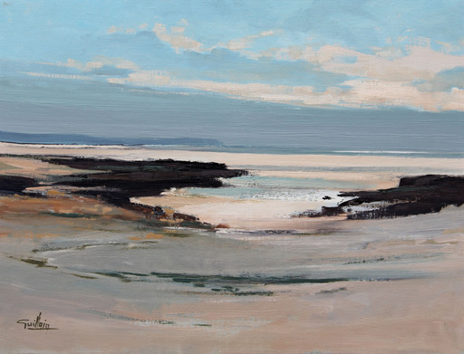 Edmond GUILLAIN - Pintura - La mer du nord