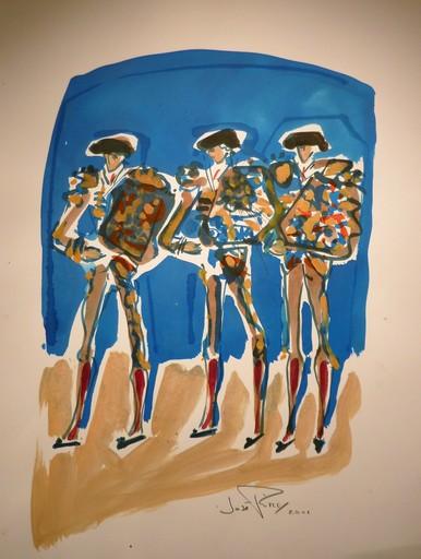 José PIRÈS - Dessin-Aquarelle - les trois Matadors
