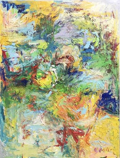 Nicole LEIDENFROST - Gemälde - Seerosen im Farbenrausch