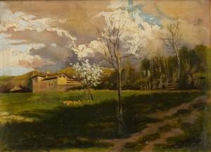 Lorenzo DELLEANI - Pintura - Casolare alpino