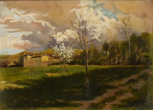 Lorenzo DELLEANI - Pittura - Casolare alpino