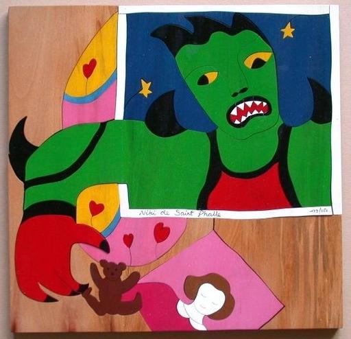 Niki DE SAINT-PHALLE - Sculpture-Volume - Puzzle Méchant Méchant