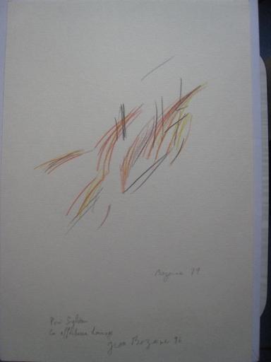 Jean René BAZAINE - Dibujo Acuarela - SANS TITRE 1978