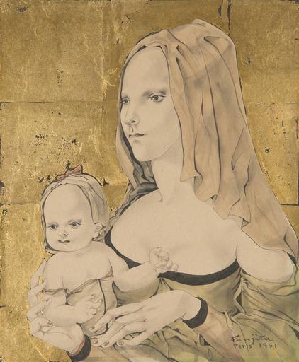 Tsuguharu FOUJITA - Drawing-Watercolor - Maternité