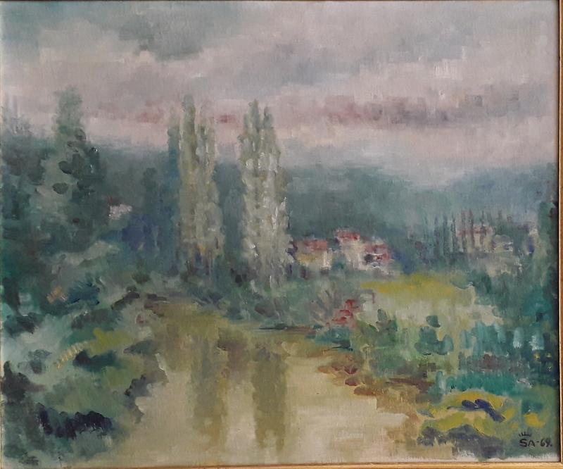 José Luis SANZ MAGALLON - Painting - Paisaje