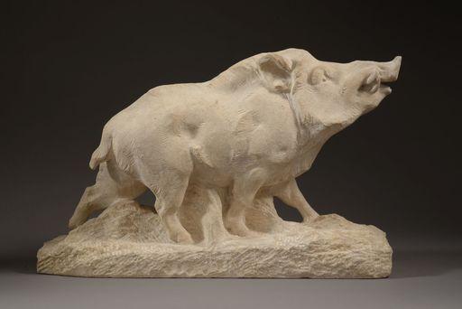 Maximilien Louis FIOT - Skulptur Volumen - SANGLIER HUMANT