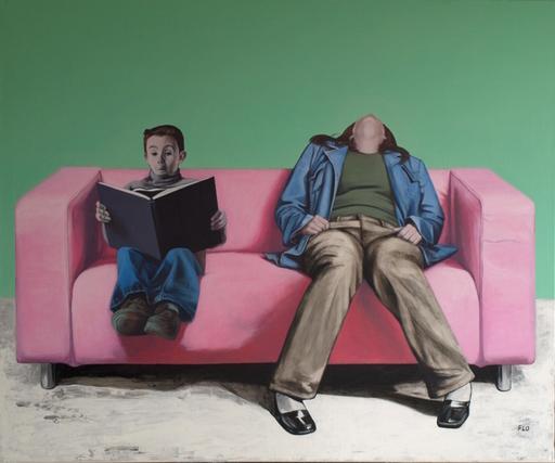 Flo JAOUEN - Painting - « Qu'est-ce qu'on attend ? #1 »