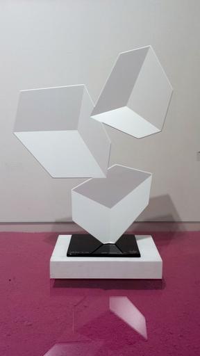 Rafael BARRIOS - Sculpture-Volume - Centrifuge F172 - White Pearl