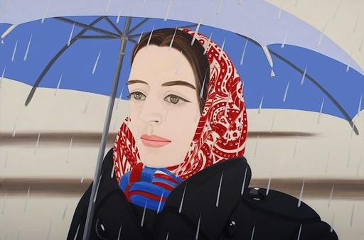 Alex KATZ - Druckgrafik-Multiple - Blue Umbrella II