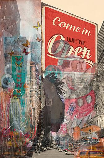Simone MONNEY - Print-Multiple - Come in we're open