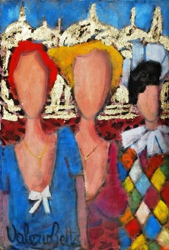 Valerio BETTA - Peinture -  Emozioni a Venezia con arlecchino
