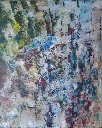 Kyna DE SCHOUEL - Peinture - Mur de glace
