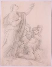 """Franz Xaver NAGER - Dessin-Aquarelle - """"Religious Study"""", 1821"""