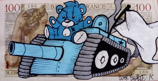 SHADEE K - Peinture - Faites l'amour pas la guerre