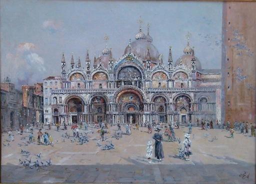 Antonio REYNA MANESCAU - Painting - PLAZA DE SAN MARCOS, VENECIA