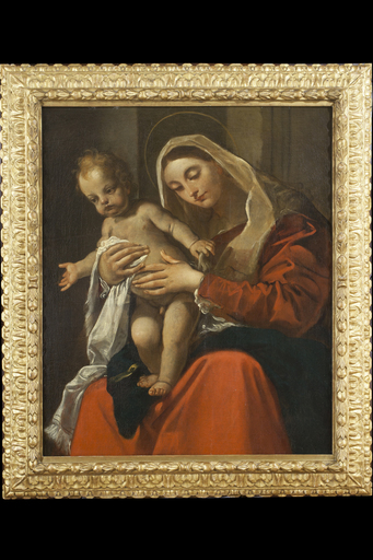 Giacomo CAVEDONE - Painting - Madonna with Child