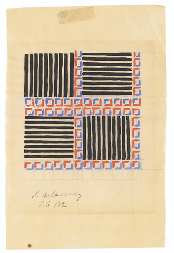 Sonia DELAUNAY-TERK - Disegno Acquarello - Composition
