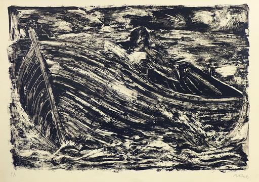 米盖尔·巴塞罗 - 版画 - La barque