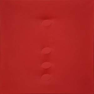Turi SIMETI - Gemälde - 4 Ovali rossi